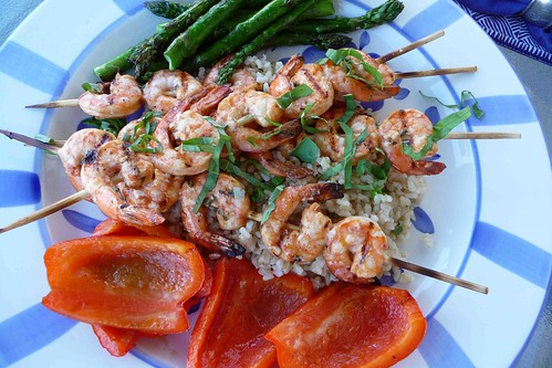 Grilled Basil Shrimp