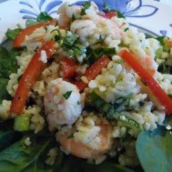 Greek Shrimp Orzo