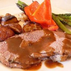 Roasted Leg of Lamb with Roasted Potatoes Recipe