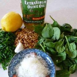 Chicken with Spinach-Chive Pesto Recipe