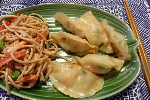 Shrimp Scallion Dumplings