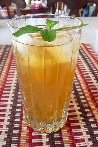 Mint Green Tea Iced Tea