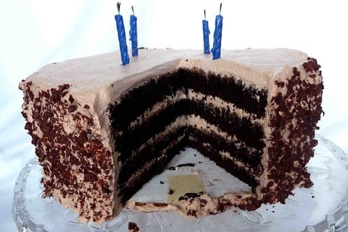 Chocolate Mousse-Filled Chocolate Layer Cake