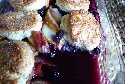 Pear, Blueberry and Ginger Cobbler Recipe