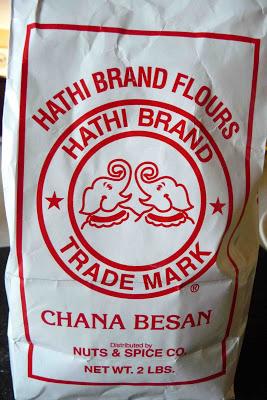 Bag of chickpea flour.