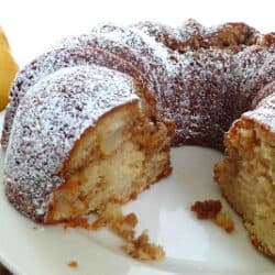 Spiced Pear Coffee Cake Recipe