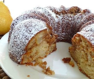 Spiced Pear Coffee Cake