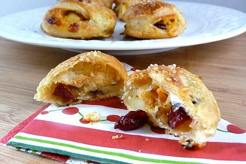 Apple & Cheddar Cheese Turnover with Dried Cranberries & Hazelnuts Recipe