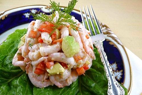 Shrimp Salad with Red Pepper, Avocado & Dill Recipe