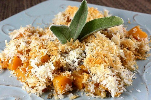 Butternut Squash Parmesan Grating with Sage Breadcrumbs Recipe