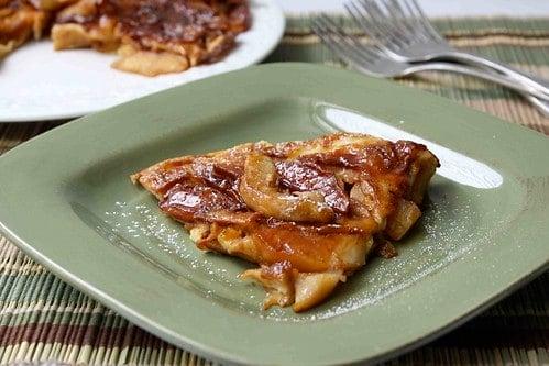 Baked German Apple Pancake Recipe with Nutmeg & Ginger