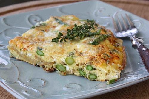 Asparagus Frittata Recipe with Smoke Paprika, Thyme & Feta Cheese