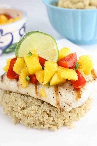 Grilled Mahi Mahi Recipe with Mango, Red Pepper & Lime Salsa