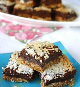 Coconut & Chocolate Fudge Bars Recipe