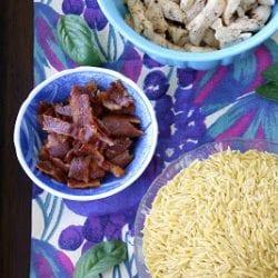 Chicken BLT (or Bacon, Spinach & Tomato) Pasta Salad Recipe