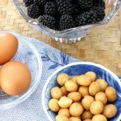 Blackberry & Macadamia Nut Clafoutis Recipe