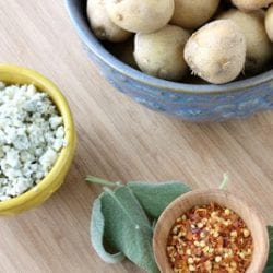 Potato Salad with Gorgonzola, Sage & Red Chiles Recipe
