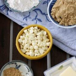 White Chocolate & Ginger Coffee Cake Muffin Recipe