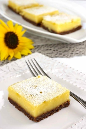 Lime Squares with Gingersnap Crust Recipe