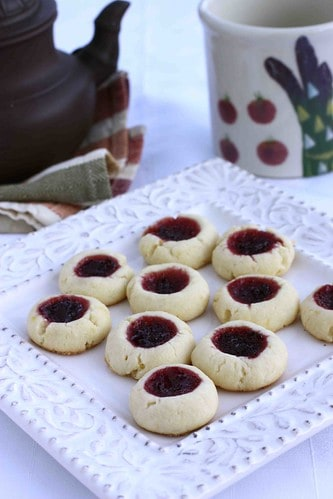 Lemon & Cherry Jam Thumbprint Cookie Recipe