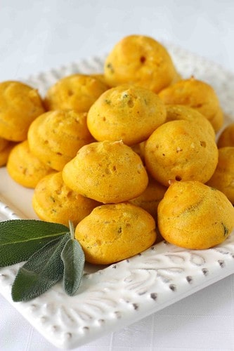 Pumpkin & Sage Gougeres (Cheese Puffs) Recipe