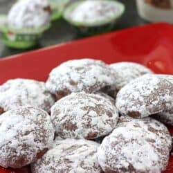 Chocolate & Peppermint Candy Cane Wedding Cookies Recipe