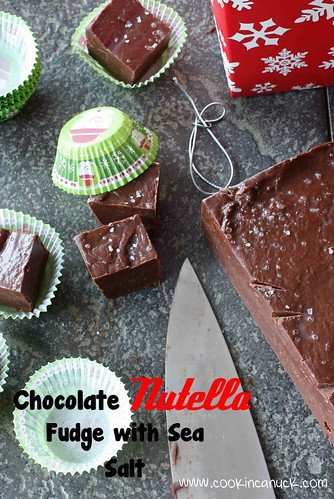 Chocolate Nutella Fudge with Sea Salt Recipe by Cookin' Canuck