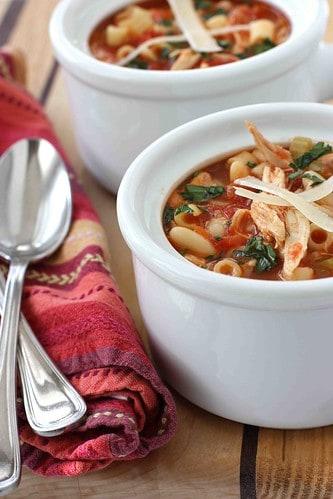 Mediterranean Chicken, Bean & Pasta Soup Recipe
