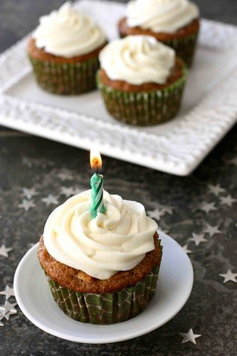 Carrot Ginger Cupcakes with Cream Cheese Frosting Recipe