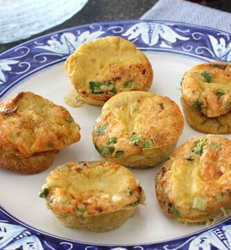 Mini Frittatas with Bacon, Parmesan Cheese & Green Onions Recipe