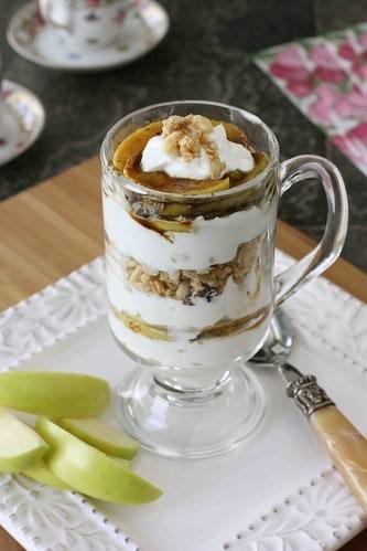 Caramelized Apple, Yogurt & Granola Parfait Recipe