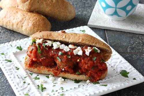 Greek Turkey Meatball Sandwich Recipe LS