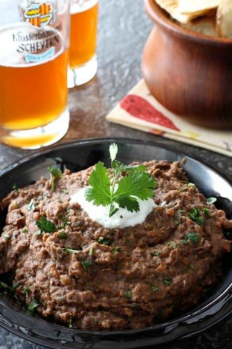 Smoky Black Bean Dip with Roasted Red & Chipotle Peppers Recipe