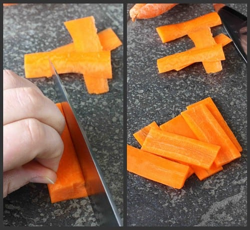 Julienne Carrot Collage