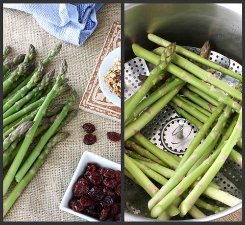 Asparagus Hazelnut Collage