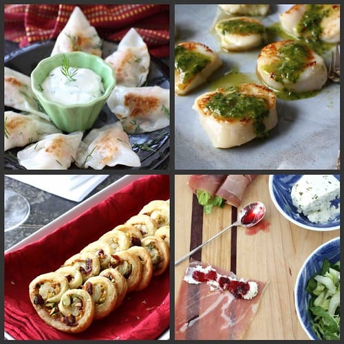 Appetizer Collage