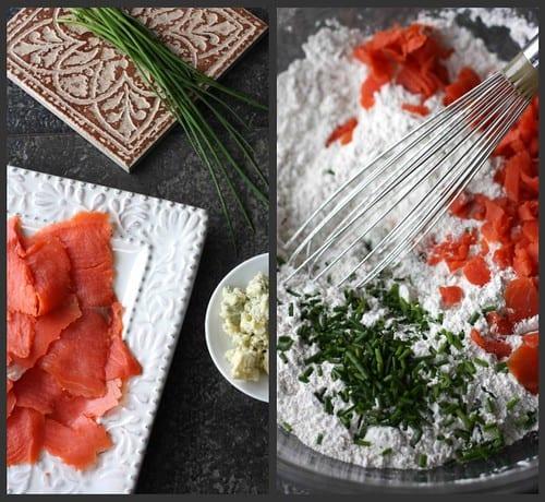 Smoked Salmon Muffins Collage