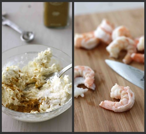 Shrimp Cream Cheese Collage