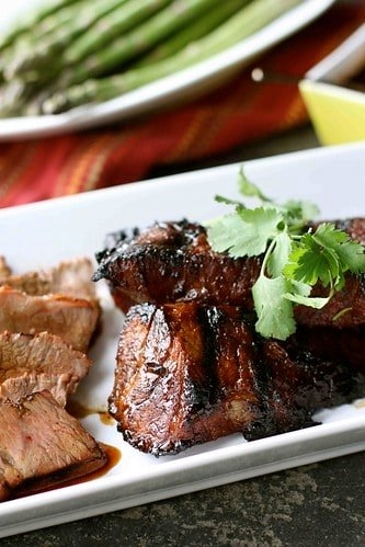 Grilled Tri-Tip Steak with Molasses Chili Marinade Recipe
