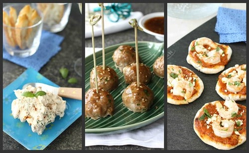 July Appetizer Collage