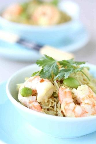Curry-Rice-Vermicelli-with-Shrimp-&-Edamame-Recipe
