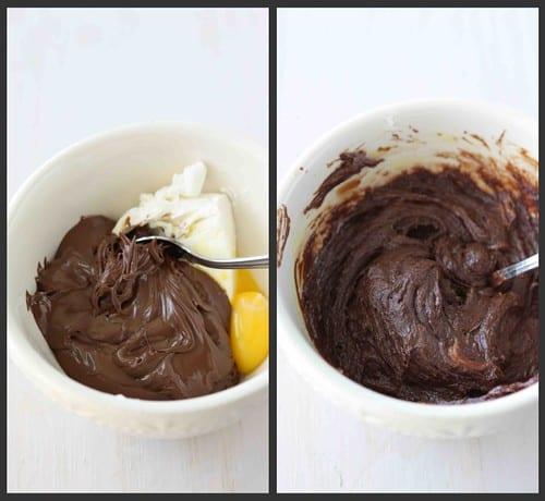 Nutella Blondies Collage