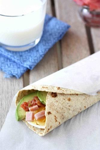 Make-Ahead-Egg-Wrap-Recipe-with-Ham-Avocado-&-Salsa