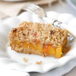 Peach Crumb Bars with Hazelnut Streusel Recipe