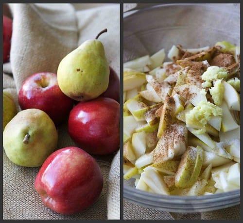 Slow Cooker Pear and Ginger Applesauce Recipe   cookincanuck.com #crockpot