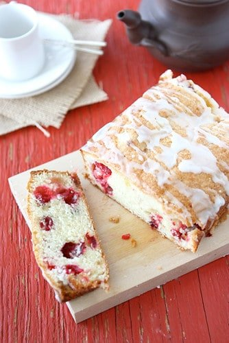 This glazed cranberry and ginger loaf is fantastic with a cup of tea or coffee, at breakfast or as an afternoon snack. #cranberry #ginger #quickbread