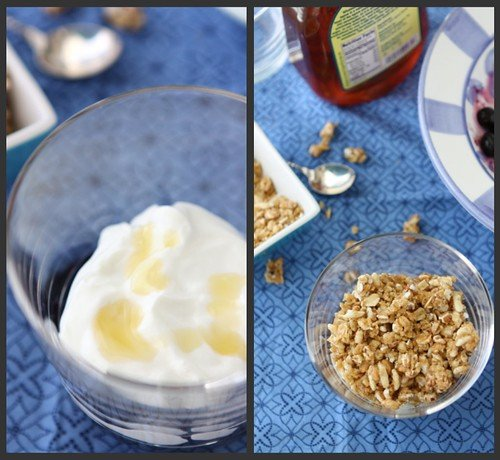 Blueberry Yogurt Parfait Collage