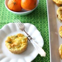Mini Egg Frittatas with Broccoli, Cheddar Cheese & Chipotle Pepper Recipe