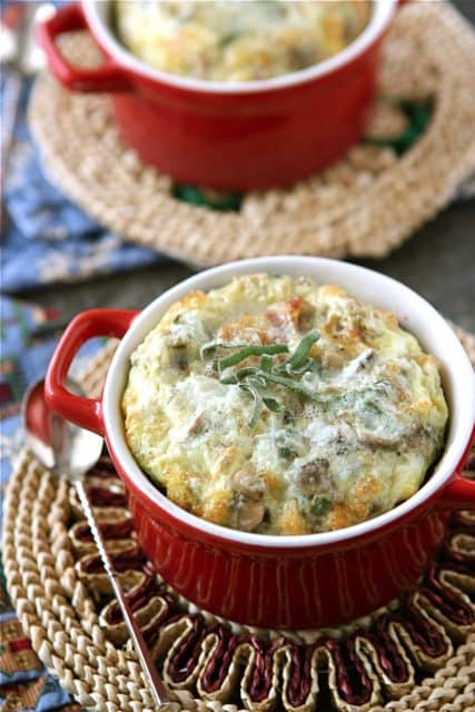 ... ' Canuck - Make-Ahead Baked Eggs with Bacon, Mushrooms & Sage Recipe