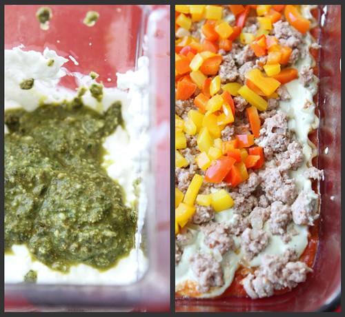 Turkey Pesto Lasagne Collage 2